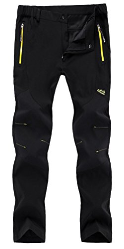 funnysun-mens-outdoor-lightweight-quick-dry-slim-fit-hiking-camping-pants16606m-black-l