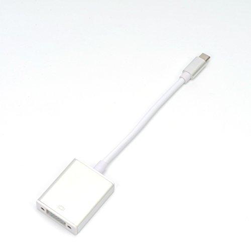 Coohole New USB C Hub Aluminum Multi-Port Adapter HDMI Output For MacBook Google Chromebook Silver Silver