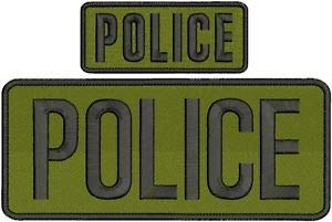 (Police Embroidery Patches 4X10