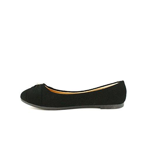 Noire FLAMS Chaussures Perles Cendriyon Femme Ballerine PWacTw0nHq