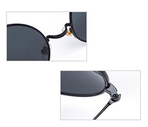 UV Redonda Caja Sol GSHGA Gafas Mujeres Y Sol Metal Silverframewhitereflective Hombres Blackboxgrayfilm Sol Gafas Caja Gafas Anti De Grande Retro De De Polarizadas 48wE0xq6w