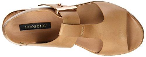 Neosens S504 Restored Skin Wood Cortese, Sandali T-Strap Donna Beige (Wood)