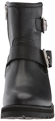 Boot Black Leather Gain Steve Madden Motorcycle Women's qSxgFvwR