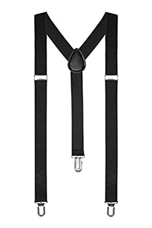 Braces/Suspenders One Size Fully Adjustable Y Shaped With Strong Clips