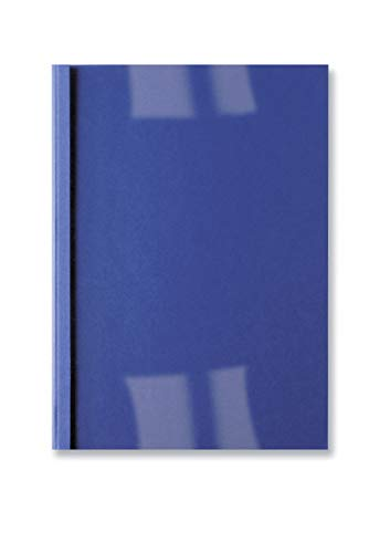 GBC Thermal Binding Covers 3mm Front PVC Clear Back Leathergrain A4 Ref IB451010 [Pack 100] - Royal Blue Blue Clear Thermal Covers