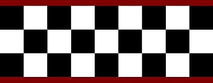 Checkered Flag Cars Nascar Wallpaper Border 4 5 Inch Red Edge