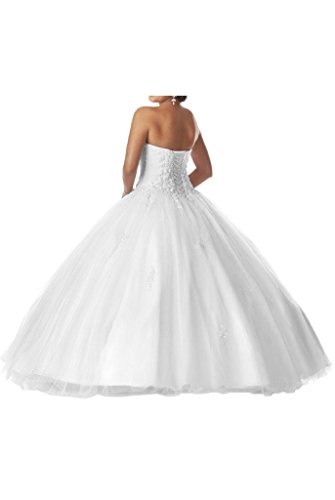 Angel Wedding Dress Quinceanera White Ball Prom Gown Dresses Bride Princess White HwHzPX
