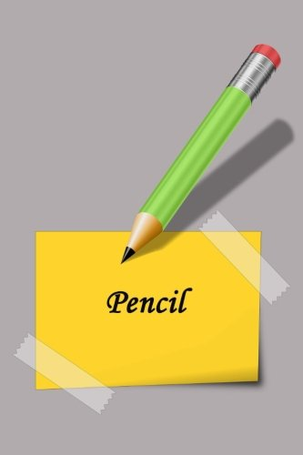Pencil: Lined Notebook, 6 x 9 inches, White paper, 100 pages(50 sheets), Soft Cover.