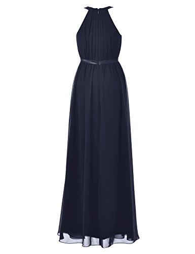 Chiffon Alicepub Dark 2 Halter Long Women's Evening Dress Gown 16 Navy Bridesmaid Maxi qwU1R6