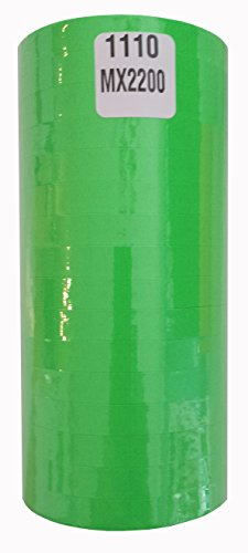 1110 Fluorescent Green Labels for Monarch 1110 or Motex MX-2200 by Monarch 1110