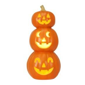 Halloween Triple Stacked Light-Up Pumpkins - Hyde and Eek! Boutique (Pumpkin Lighted)