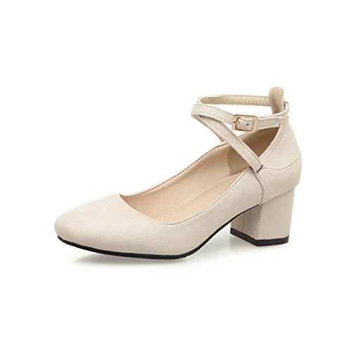 Mujer Casual Estructurados Estilo BalaMasa APL10610 sólidos Beige de Zapatos y Urethane para SxawqRIY