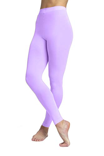 Butterfly Hosiery Girls' Kids Childerns Solid Colored Dance Ballet Custume Seamless Opaque Footless Tights Leggings Stocking Lavender 12-14 ()