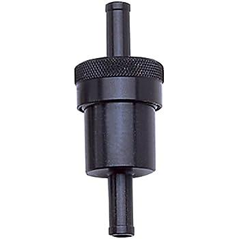 Edelbrock/Russell 645150 Black Aluminum Street Fuel Filter