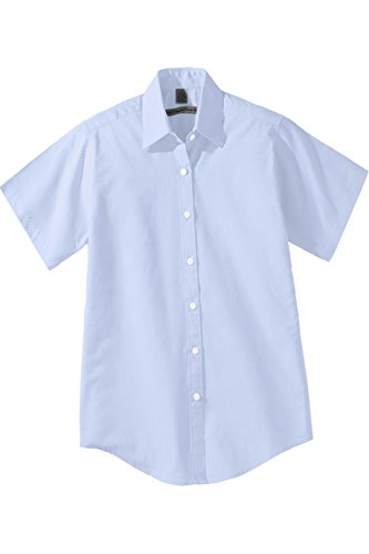 Edwards Short Sleeve Oxfords (Edwards Men's Short Sleeve Pinpoint Oxford Shirt, BLUE, XLarge)