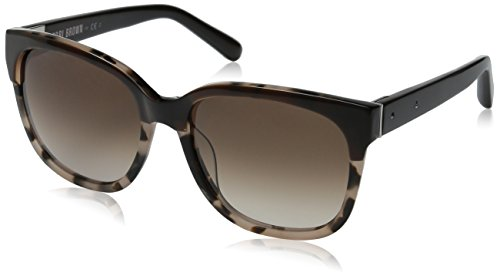 Bobbi Brown Women's The Gretta Square Sunglasses, Brown Blush Tortoise & Warm Brown Gradient, 56 - Sunglasses Brown Bobbi