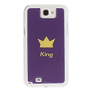 RC - King's Crown Drawing Pattern Neutral Stiffiness Silicone Gel Back Case Cover for Samsung Galaxy Note2 N7100