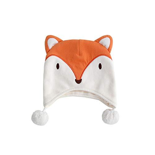 pureborn Unisex Baby Cartoon Fox with Pompom
