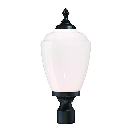 Acclaim 5367BK/WH Acorn Collection 1-Light Post Mount Outdoor Light Fixture, Matte Black