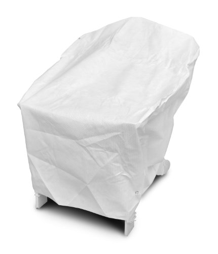 DuPont Tyvek 22750 Adirondack White Chair Cover, 40-Inch W by 37-Inch D by 41-Inch H