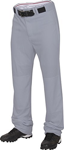 Rawlings Youth Straight Fit Unhemmed Pants, Large, Blue/Grey (Pant Unhemmed Baseball)