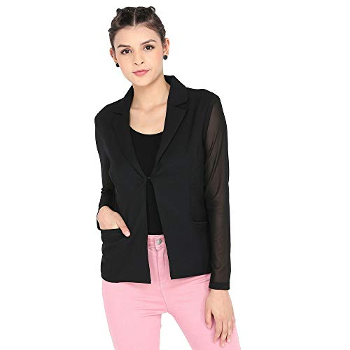 FRATINI WOMAN Notched Lapel Solid Blazer for Womens