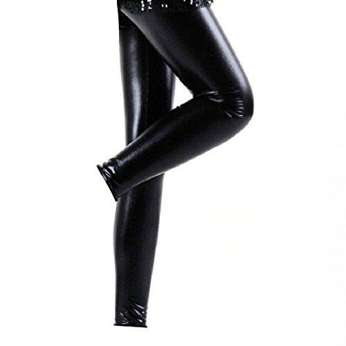 Vinyl Pants (JNTworld Women sexy low waist leggings, L, shiny black)