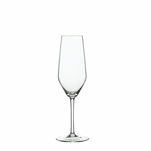 Glass Set, 4pcs Spiegelau Style 8.5 Oz Champagne Flute Drinking Clear Glasses Set ()
