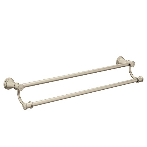 Moen YB6422BN Belfield 24-Inch Bathroom Double Towel Bar, Brushed Nickel