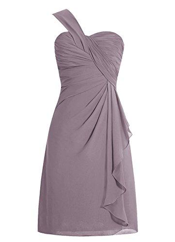 Dresstells D'honneur Courte Demoiselle Asymétrique De Marine Mousseline Col Cœur En Robe épaule UYtnrxXqY