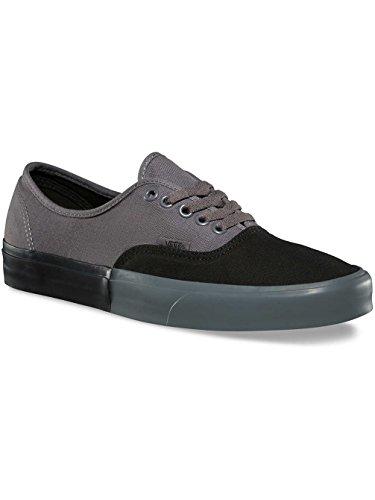 721c502ddd Vans Authentique Noir Daim Gris   Toile Lace Up Sneakers Chaussures ...
