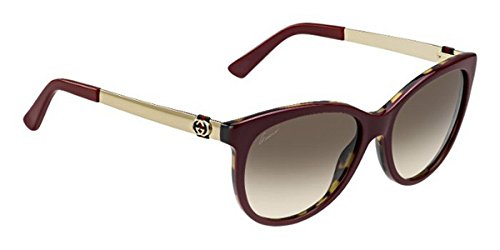 Gucci+3784S+LVS+Burgundy+Havana+Gold+3784S+Cats+Eyes+Sunglasses+Lens+Category+2