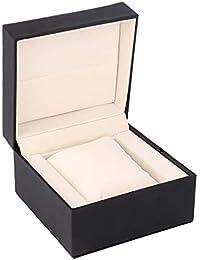 Single Watch Gift Box, Yeeco Black Watch Box PU Leather with Cushion Pillow Wristwatch Bracelet Jewelry Display Case for Men Women
