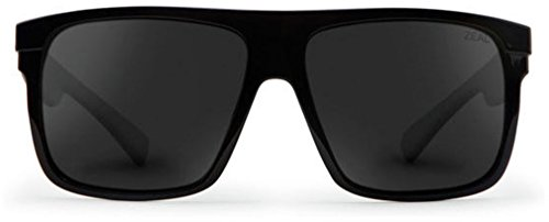 Zeal Optics Unisex Eldorado Black Gloss/Dark Grey Polarized Lens - Sunglasses Zeals