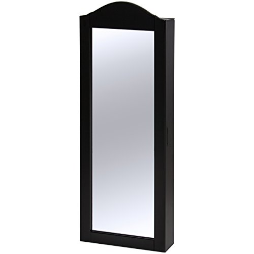 Best Choice Products Wall Mounted Mirror Jewelry Cabinet Armoire Black by Best Choice Products (Image #1)