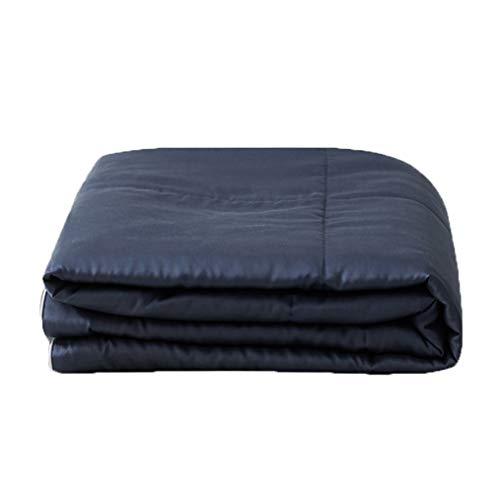 JBailmx 60S Tencel Satin Cotton Quilt Bedding | Soft Breathable Comforter | Anti-Allergy Cotton Quilt Casing | 4.5 Tog Lightweight Quilt Ideal for Summer,Blue,220×240cm/2.3kg