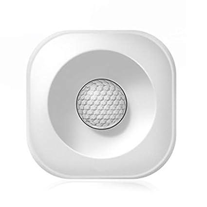 SODIAL Detector De Sensor De Movimiento Pir Inteligente Inalámbrico De Alta Precisión Inteligente Alarma Antirrobo De Seguridad Inteligente Compatible ...