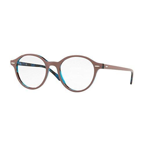 Ray-Ban rx7118 50 5715 doyen au verres brun Havane bleu RX7118 5715 50 Clear Brown Havana Blue