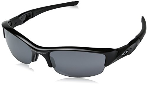 Oakley Men's Flak Jacket Iridium Sunglasses,Jet Black Frame/Black Lens,One Size