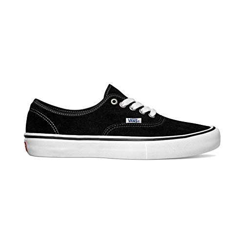 - Vans - Mens Suede Authentic Pro Skate Shoes, Black, 8