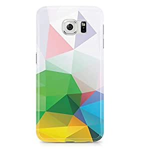 Samsung Galaxy S6 Edge Case Colorful Multicolor Geomaterical Pattern-Hard Plastic Tough Wrap Around Phone Cover