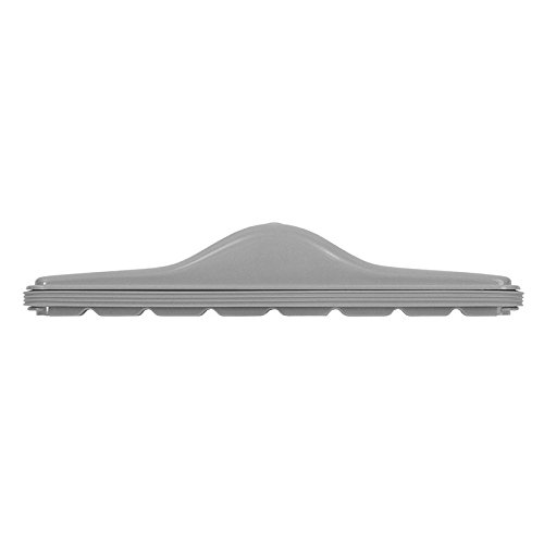 Flexaust 546 Tuec ABS Plastic Scallop Face Carpet Tool, Type 1, 14'' Width, 1-9/16'' Neck Size, Gray by Flexaust