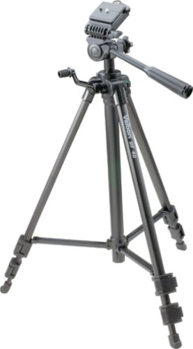 Velbon DF-60 Deluxe Lightweight Photo/Video Tripod with 3-Way Panhead and Quick Release Shoe