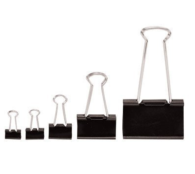 OfficeMax Heavy-Duty Black Binder Clips, Small, 144 ct. by OfficeMax