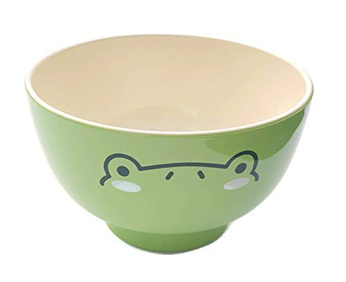 (Absolutely Adorable Animal Bowls - Set or Individual, 3 Colorful bowls, Green Frog, Pink Pig and Brown Bear, These bowls can be used for rice, noodles, soup and more| Dishwasher)