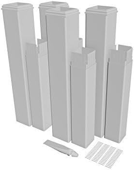New England Arbors VA80350 Pergola Extension kit, 24 inches, White
