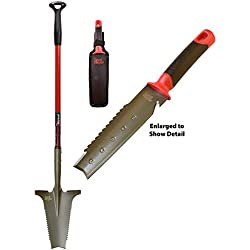 Radius Garden 38811 Lightweight 2-Piece Metal Detecting Shovel Kit, Red