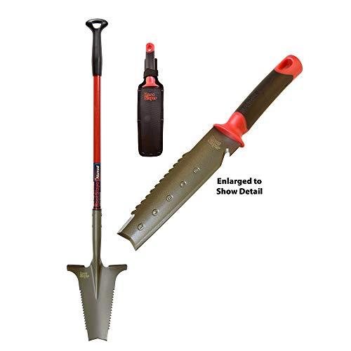 Radius Garden 38811 Metal Detecting 2-Piece Shovel Set, Red (Best Digging Tool For Metal Detecting)