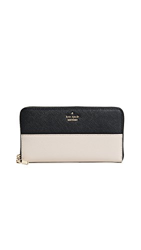 Kate Spade New York Women's Cameron Street Lacey Zip Around Wallet, Tusk/Black, One Size by Kate Spade New York