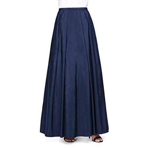 Alex Evenings Women's Long Skirt Various Styles (Petite and Regular Sizes), Navy Taffeta, M